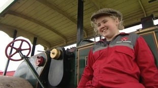 Molly on her steam engine
