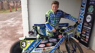 Speedway world champion Kyle Bickley has raised £1500