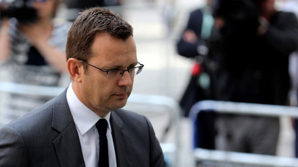 Andy Coulson arriving at Westminster Magistrates' Court