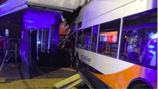 The bus crashed into Sainsbury's on Saturday