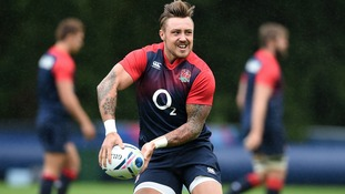 Jack Nowell at an England training session.