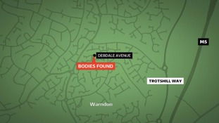 The bodies were found in the Warndon area of the city