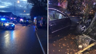 Crash at the junction of Howard Road and Hazelhurst Road in Kings Heath