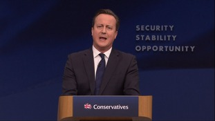 David Cameron speaking at the conference