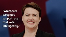 Leader of the Scottish Conservative Party Ruth Davidson addresses the Conservative Party conference at Manchester Central.