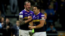 Leuluai (right) and Kevin Sinfield will end their careers together at Saturday's Grand Final
