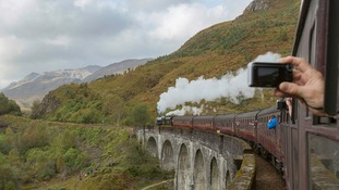 The Glenfinnan viaduct in the Highlands