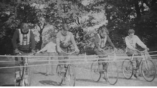A village cycle race.