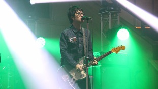 Johnny Marr on stage at the Albert Hall