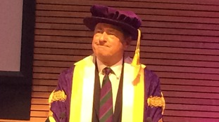 Alan Titchmarsh is installed as the new Chancellor at the University of Winchester.