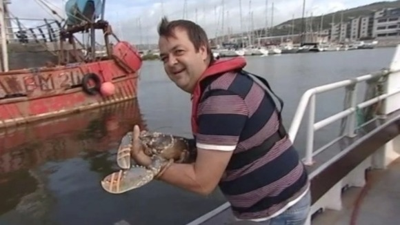 Swansea chef Anthony Christopher will be releasing the lobster - named after his mother - back into the sea
