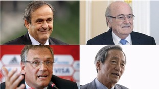 Fifa suspends Blatter, Platini, Valcke and Chung from football