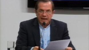 Ecuador's Foreign Minister Ricardo Patino