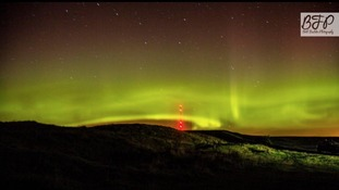 The Aurora over Calderback Common