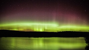 The Northern Lights from Loch Ettrick