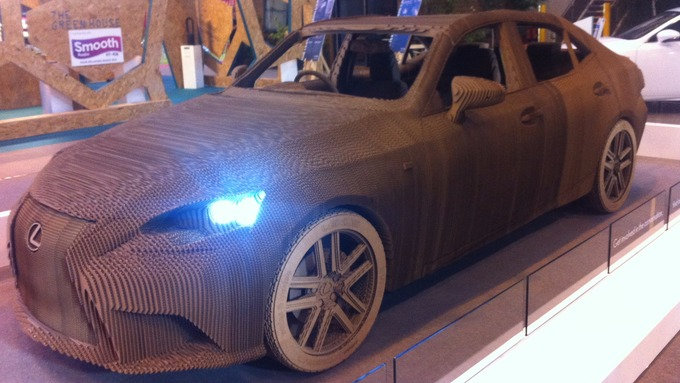 Cardboard Car Goes For Test Drive In Birmingham