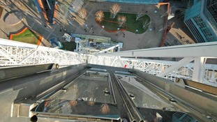 View down from big wheel
