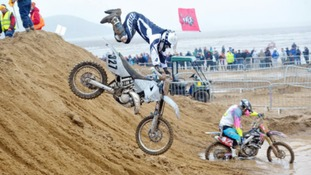 Thrills and spills: The beach race draws in huge crowds every year