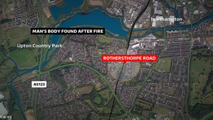 A man's body has been found after a house fire in Northampton.