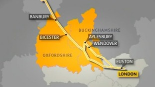 Map of HS2 link