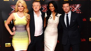 Tulisa Contostavlos, Louis Walsh, Nicole Scherzinger and Dermot O'Leary at the launch of this year's X Factor