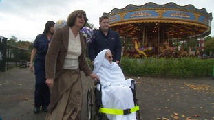 Woman celebrates her 100th birthday at park she played in as a child