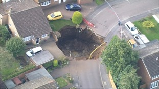 The sinkhole 66ft wide and 33ft deep opened up on 1 October 2015.