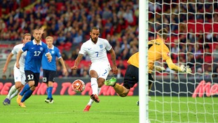 England 2-0 Estonia: Walcott and Sterling secure victory