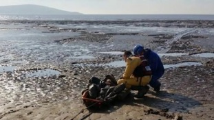Weston-super-Mare mud rescue