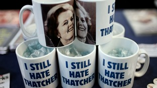 Anti-Thatcher novelty mugs