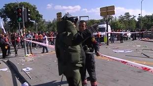 Suspected terror attack 'kills at least 20' in Turkish capital