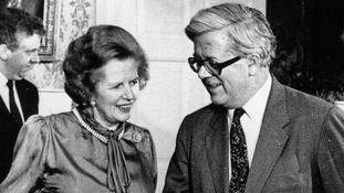 Lord Howe and Margaret Thatcher in 1987.