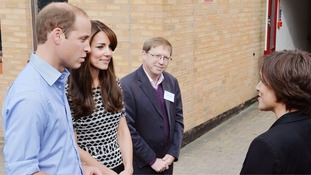 Duke and Duchess of Cambridge mark World Mental Health Day with college visit
