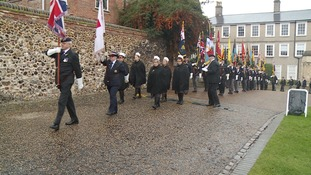 The procession in Norwich today
