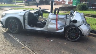 Driver seriously injured after car rolls three times and crosses central reservation