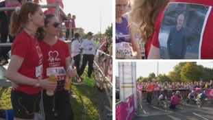 Mr Colley's daughters ran the marathon to raise funds for the British Heart Foundation.