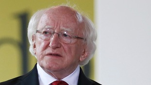 The President of Ireland Michael D Higgins.