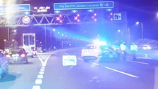 Police cordon off the motorway