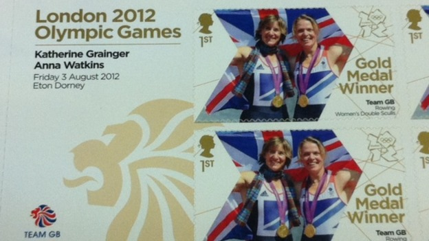 Olympic Gold medal rowers Anna Watkins (right) and Katherine Grainger