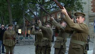 The gun salute in Peterborough