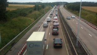 Heavy traffic as festival goers head to V
