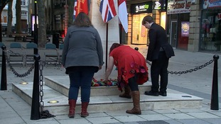 The blanket being laid in Peterborough