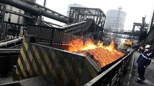 The coke ovens at SSI in Redcar, pictured open and operating in 2012, will close