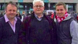 Joel Richards, seen here on the right with his grandfather and uncle, died in the attack