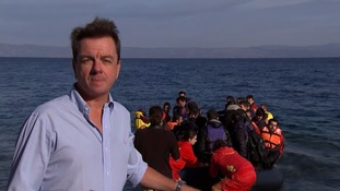 John Irvine's report from Lesbos shows the illegal business of people smuggling is booming on the Greek island.