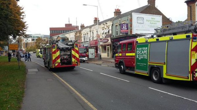Cannabis factory goes up in flames in west London