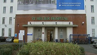 St Helier Hospital in Carshalton.