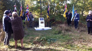 The service was held to commemorate three Polish aircrew who fought for the Allies