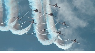 The Red Arrows aviation display