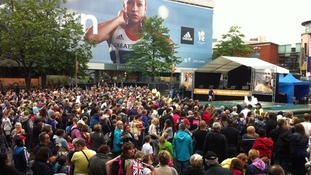 Crowds at Jess Ennis' homecoming